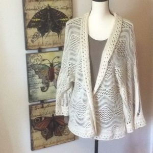 Willow & Clay Cream Open Knit Cardigan